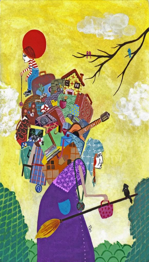 """Desenho inspirado em obra de Manoel de Barros: """"...que a importância de uma coisa não se mede com fita métrica nem com balanças nem barômetros etc. Que a importância de uma coisa há que ser medida pelo encantamento que a coisa produza em nós."""""""