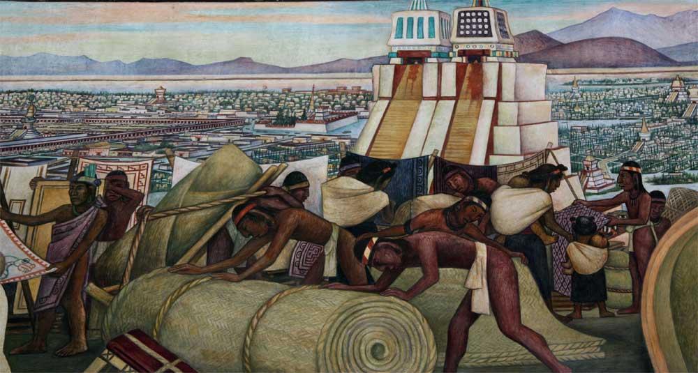 Obra de Diego Rivera sobre a capital asteca
