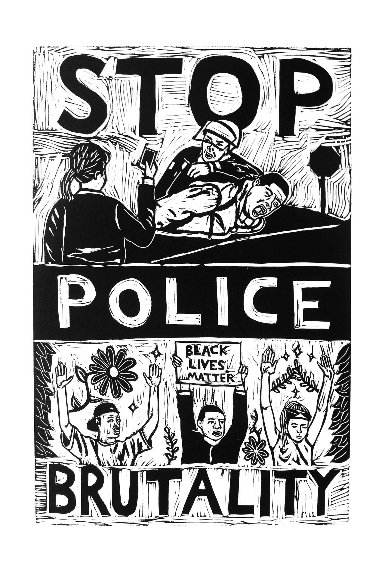 Poster Black Lives Matter (Stop Police Brutality)