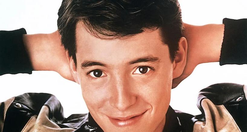 Ferris Bueller (Matthew Broderick) em Curtindo a Vida Adoidado de 1986