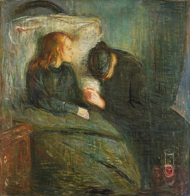A Criança Doente por Edvard Munch (1886)