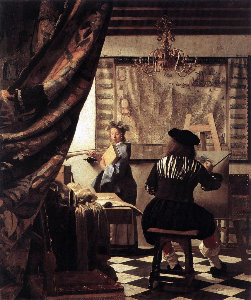 Estúdio do Artista, de Johannes Vermeer - Realismo