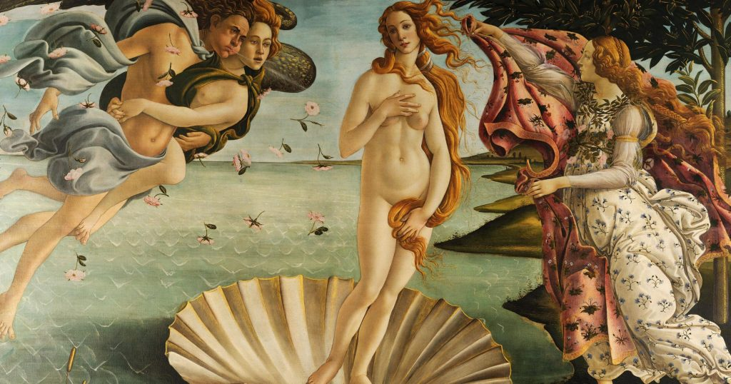 Nascimento de Vênus, de Botticelli