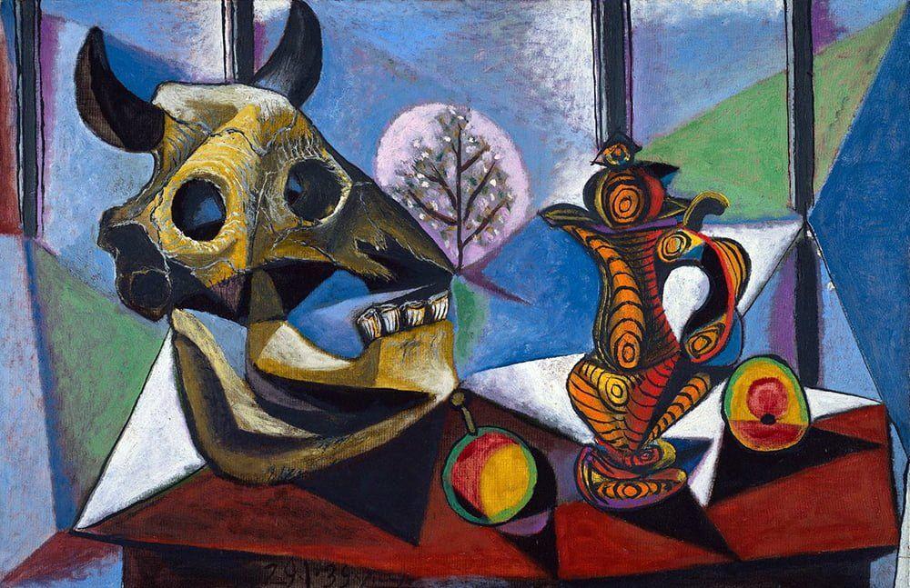 Natureza Morta com Crânios de Touros, de Pablo Picasso - Cubismo