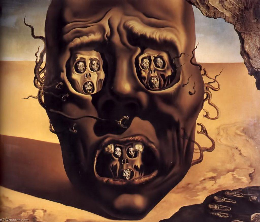 A Face da Guerra, Salvador Dalí - Surrealismo