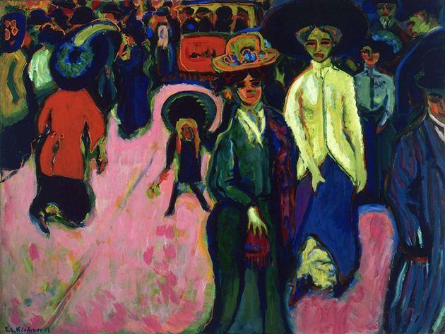 Cena de rua em Berlim (1913-15), de Ernst Kirchner