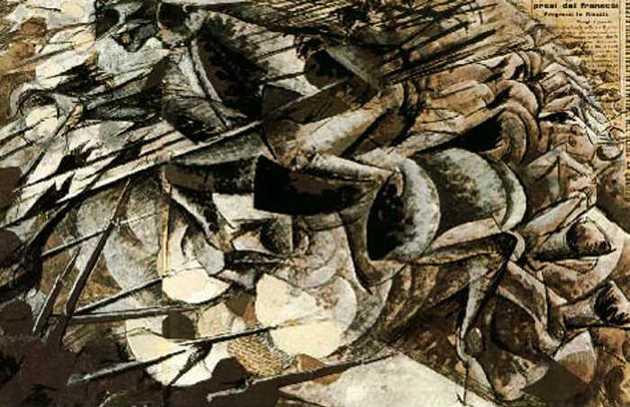 Carga dos Lanceiros (1915), de Umberto Boccioni