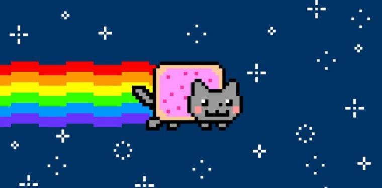 O gifNyan Cat, um meme criado por Chris Torres em 2011