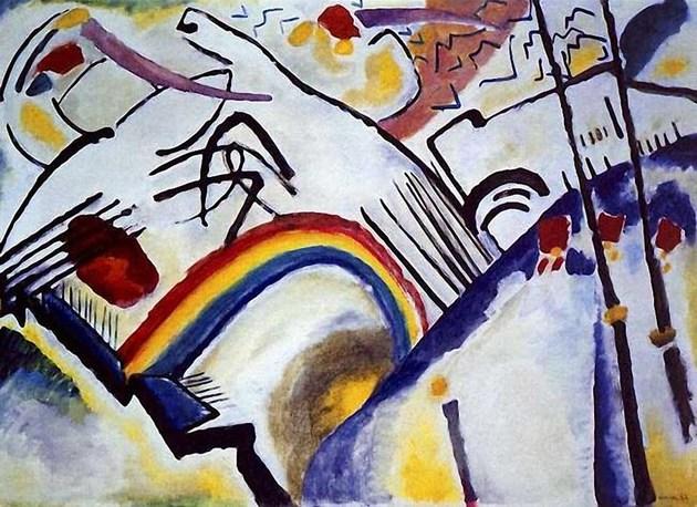 Batalha (1910), de Kandinsky