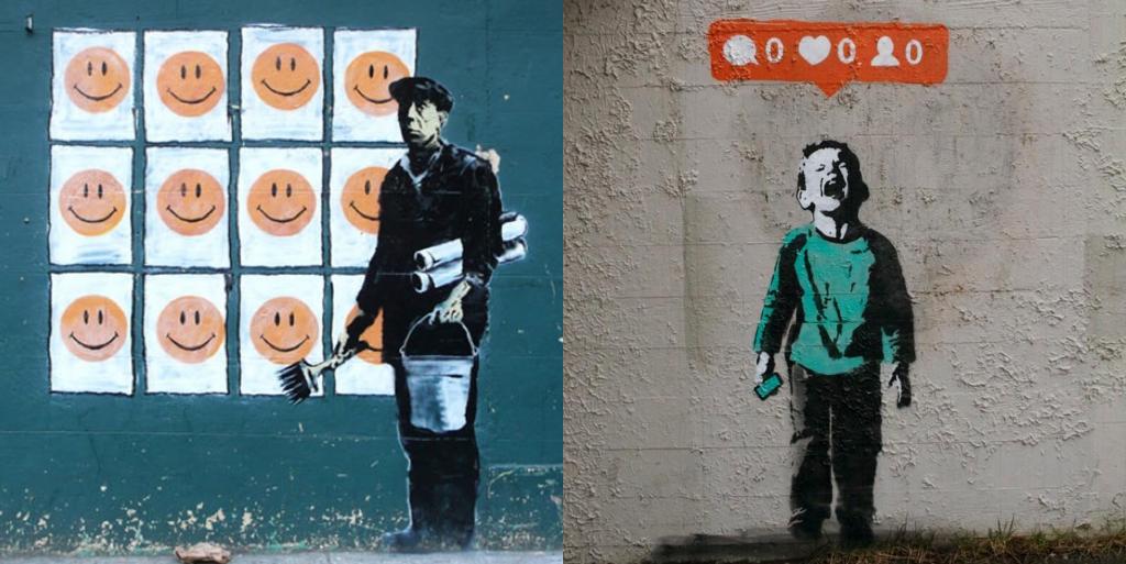 A arte urbana e rebelde de Banksy