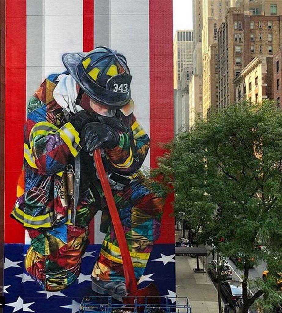 Bravos do 11 de setembro - Eduardo Kobra